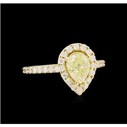 1.53ctw Fancy Yellow Diamond Ring - 14KT Yellow Gold