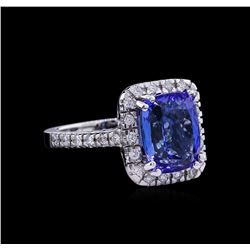 5.65ct Tanzanite and Diamond Ring - 14KT White Gold