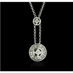 18KT White Gold 0.34ctw Diamond Pendant With Chain