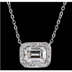 14KT White Gold GIA Certified 1.70ctw Diamond Necklace