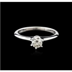 14KT White Gold 0.37ct Round Cut Diamond Solitaire Ring