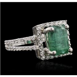 18KT White Gold 2.84ct Emerald and Diamond Ring