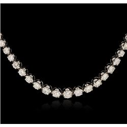 14KT White Gold 9.59ctw Diamond Necklace
