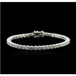 18KT White Gold 9.04ctw Diamond Tennis Bracelet