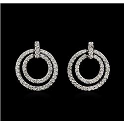 2.00ctw Diamond Earrings - 14KT White Gold