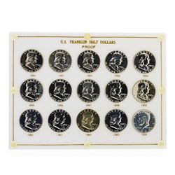 1950-1964 Sealed US Franklin Half Dollar Proof Set Silver Coins