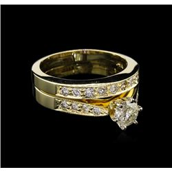 0.94ctw Diamond Ring - 14KT Yellow Gold