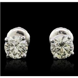 14KT White Gold 1.03ctw Diamond Solitaire Earrings