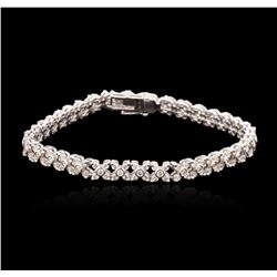 14KT White Gold 1.80ctw Diamond Tennis Bracelet