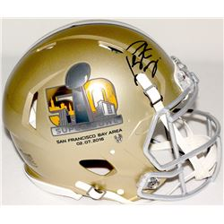 Peyton Manning Signed Super Bowl 50 Full Size Authentic Pro-Line Helmet (Fanatics Hologram)