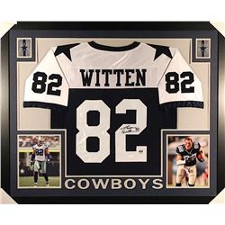 Jason Witten Signed Cowboys 35x43 Custom Framed Jersey (JSA COA & Witten Hologram)