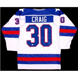 "Jim Craig Signed Team USA ""Miracle on Ice"" Jersey (JSA COA)"