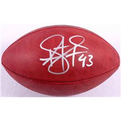 Troy Polamalu Signed Official NFL Super Bowl XL 40th Anniversary Game Ball (JSA COA & TSE)