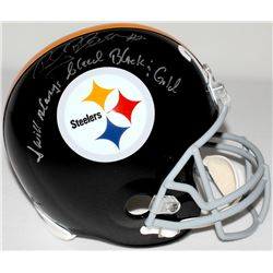 "Rocky Bleier Signed Steelers Full-Size Helmet Inscribed ""I Will Always Bleed Black & Gold"" (TSE COA)"