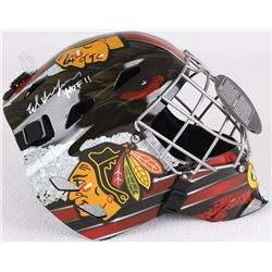 "Ed Belfour Signed Blackhawks Full-Size Goalie Mask Inscribed ""HOF 11"" (Schwartz COA)"