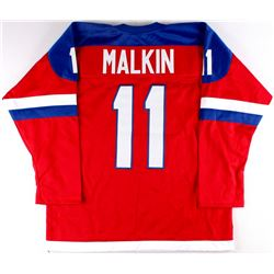 Evgeni Malkin Team Russia On-Ice Style Custom Stitched Jersey (Size XL)