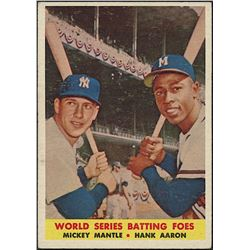 Mickey Mantle / Hank Aaron 1958 Topps #418 World Series Batting Foes