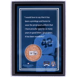 "Mariano Rivera ""Final Season 2013 Quote"" 5x7 Photo Plaque with Authentic Yankee Stadium Dirt (MLB &"