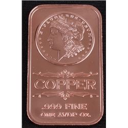 Morgan Dollar 1 AVDP Oz. Fine Copper Bar