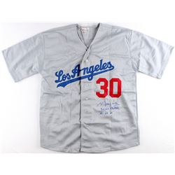 "Maury Wills Signed Dodgers Jersey Inscribed ""3x WS Champs '59 '63 '65"" (PA COA)"