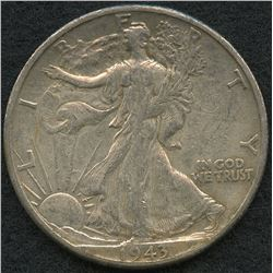 1943-D Walking Liberty Silver Half Dollar
