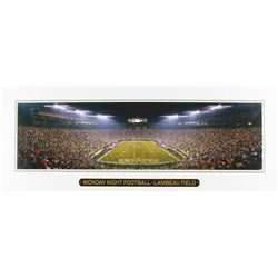 "Green Bay Packers Lambeau Field ""Monday Night Football"" 14x36 Lithograph"