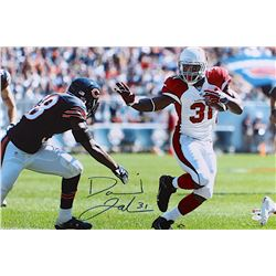 "David Johnson Signed Cardinals ""Stiff Arm vs Bears"" 20x30 Photo on Canvas (JSA COA)"