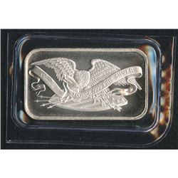1 oz. SilverTowne Retro Eagle .999 Silver Bar