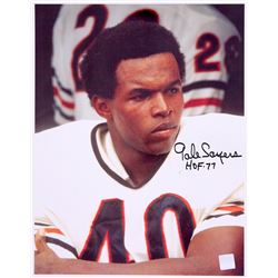 "Gale Sayers Signed Bears 11x14 Photo Inscribed ""HOF 77"" (Sayers Hologram)"