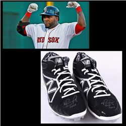 "David Ortiz Signed Pair of 2015 Red Sox Game-Used New Balance Cleats Inscribed ""G-U 2015"" (Fanatics"