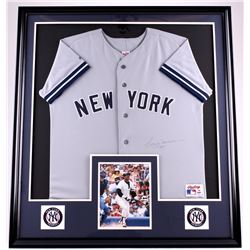 Reggie Jackson Signed Yankees 35x39 Custom Framed Jersey Display (PSA COA)