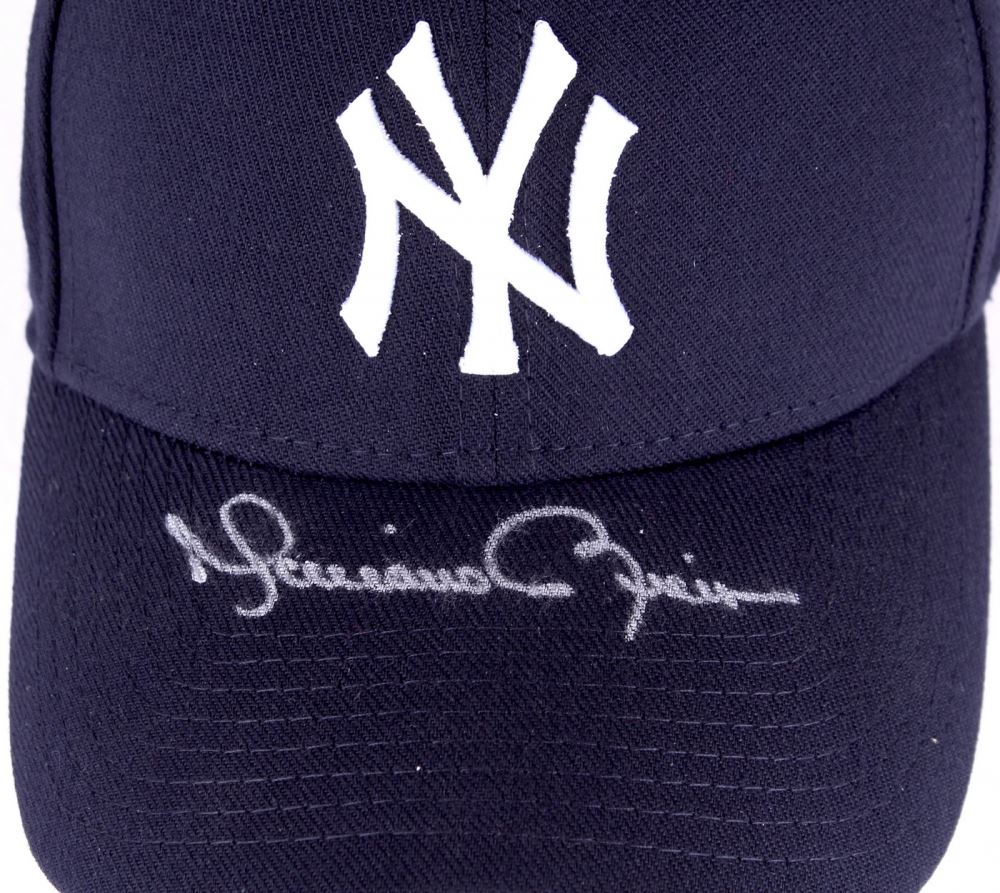 b808125f ... new style image 1 mariano rivera signed yankees fitted wool hat with  retirement logo patch steiner