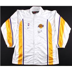 Magic Johnson Signed Lakers Warm-Up Jacket (PSA COA)
