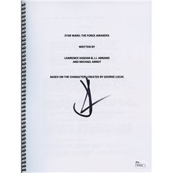"J.J. Abrams Signed ""Star Wars: The Force Awakens"" Full Script (JSA COA)"