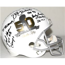 "Jack Ham, Jack Lambert & Andy Russell Signed Steelers Legends ""Super Bowl on The 50"" Full-Size Helme"