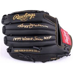 "Reggie Jackson Signed Rawlings Full-Size Pro Model Baseball Glove Inscribed ""1977 World Series MVP"""