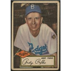 Andy Pafko 1952 Topps #1A Black