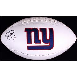 Odell Beckham Jr. Signed Giants Logo Football (JSA COA)