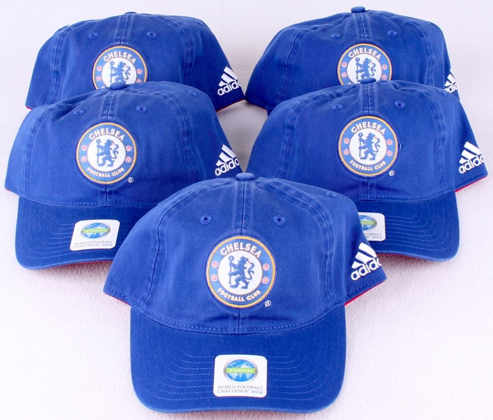 Image 1   Lot of (5) Chelsea Football Club New Adjustable Adidas Soccer Hats  ... 1e99713492d8