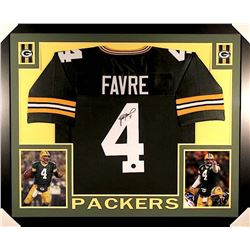 Brett Favre Signed Packers 35x43 Custom Framed Jersey (Favre COA)