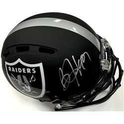 Bo Jackson Signed Raiders Custom Matte Black Full-Size Authentic Proline Helmet (JSA COA)