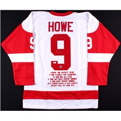 "Gordie Howe Signed Red Wings Stat Jersey Inscribed ""Mr Hockey"" (JSA COA & Gordie Howe Hologram)"