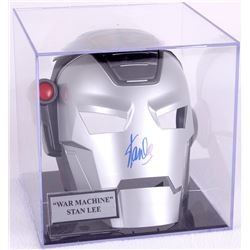 "Stan Lee Signed Iron Man ""War Machine"" Marvel Mask with Display Case (PSA COA)"