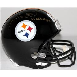 "Hines Ward Signed Steelers Full-Size Helmet Inscribed ""2X SB Champs"" (Ward COA)"