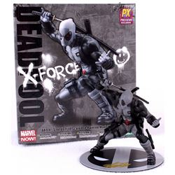 """Stan Lee Signed """"Deadpool X-Force"""" High Quality Hand-Painted Marvel 6"""" Action Figure with Original B"""