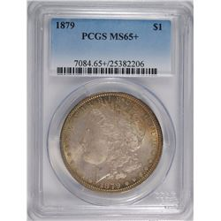 1879 MORGAN SILVER DOLLAR, PCGS MS-65+