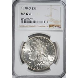 1879-O MORGAN DOLLAR NGC MS-63+ WHITE