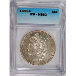 1883-S MORGAN DOLLAR ICG MS-62 SCARCE IN UNCIRCULATED GRADES