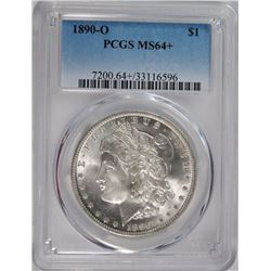 1890-O MORGAN DOLLAR PCGS MS-64+ LOOKS GEM