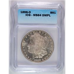 1898-O MORGAN DOLLAR ICG MS-64 DMPL